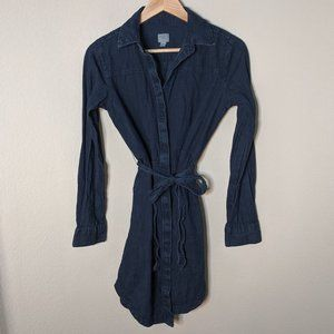 a new day Jean Dress Buttons and Tie Stylish XS